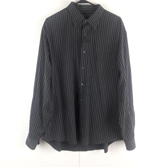 Perry Ellis Other - Perry Ellis XXL Black Coral Stripe Shirt